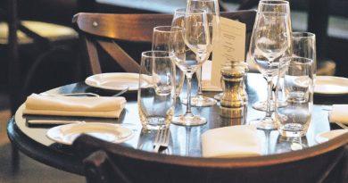 Kamienice na serwetkach z restauracji